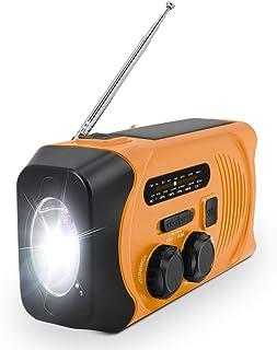 【進化版】防災ラジオ 手回し充電ラジオ 非常用 ラジオ 手回し 多機能 災害対応 防災グッズ SOSアラート スマホ充電 ソーラー充電 2000mAH 携帯ラジオ