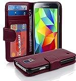 Cadorabo Funda Libro para Samsung Galaxy S5 / S5 Neo en Burdeos Violeta - Cubierta Proteccíon con...
