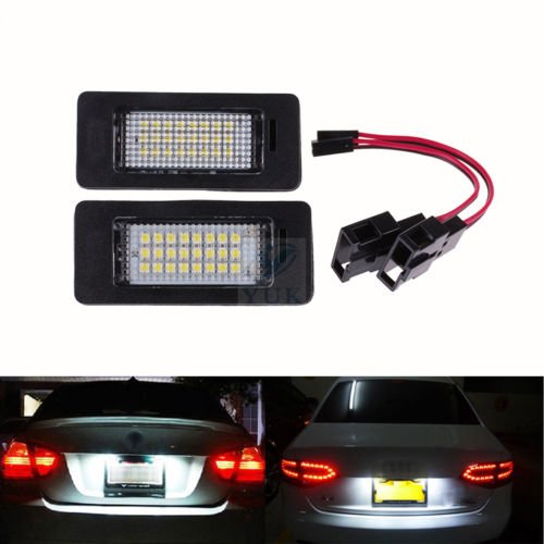 Ricoy 2x License Number Plate LED Light Lamp For A4 B8 A5 Q5 Passat S5 Error Free