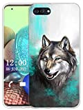 Sunrive Kompatibel mit Ulefone Gemini Pro Hülle Silikon, Transparent Handyhülle Schutzhülle Etui Hülle (X Wolf 1)+Gratis Universal Eingabestift MEHRWEG