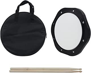 Mowind Drum Practice Pad 10 Inch Tunable with Drumsticks Carrying Bag