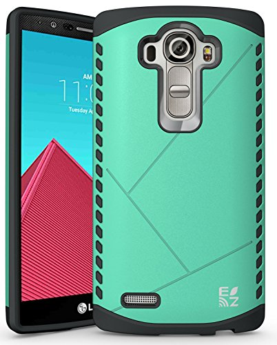 ECOZ [SHIELDX LITE] Slim Protective Dual Layer Armor Case Cover for LG G4 (Green)