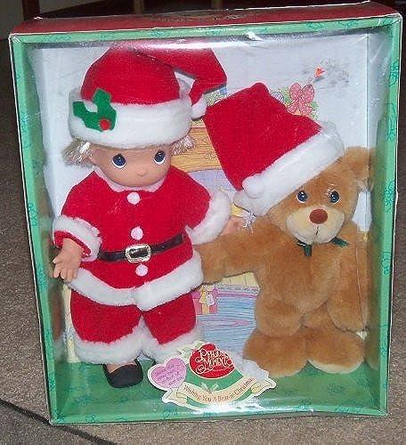 Enesco Precious MoHommests Wishing You a Bearie Christmas Doll bear Mint