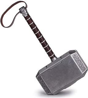 Fundisinn Metal Thor's Hammer 8 inch Avengers Thor Battle Replica Hammer Kids Cosplay Toys 20cm Hammer for Boys Birthdays Gift