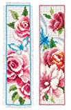 Vervaco Cross Stitch Bookmark Kit Flowers and Butterflies (Set of 2) 2.4' x 8'