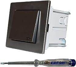 Gira complete set stopcontact met klep 0454600 + 1-voudig frame plat + afdichtingsset IP44, waterdicht -roestvrij staal- k...