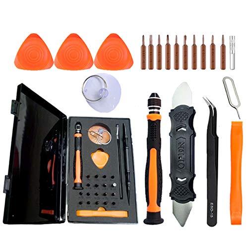 Juego de mini destornilladores,27 en 1Destornilladores de Precisión Kit,Herramientas Desmontar Kit de Reparación,Se utiliza para portátiles, relojes.