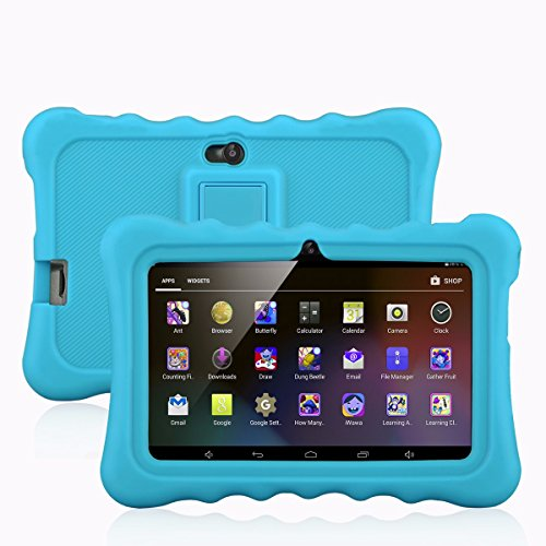 7 Kids Tablet PC, Ainol Q88 Android 4.4 External 3G 8GB ROM 512MB RAM Tablet with Dual Camera WiFi USB Phablet (Blue)
