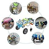 Silla de ruedas para perros, silla de ruedas ajustable para cuatro ruedas para mascotas, carrito de rehabilitación de la parte delantera de la pierna Asistente para caminar de mascotas paralizado