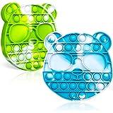 GRIKAI 2ps Push Pop Bubble Fidget Sensory Toy,...
