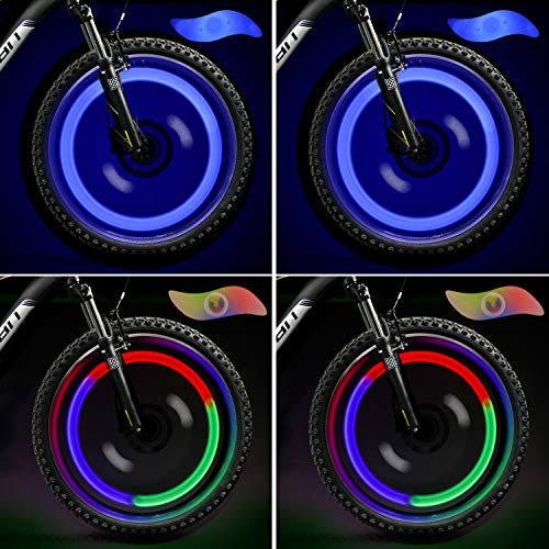TAGVO 4pcs luz de radios de Bicicleta (rojo+verde+azul+multi