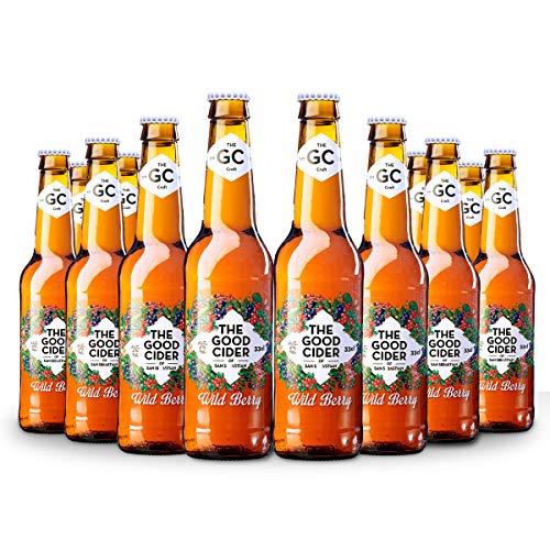 The Good Cider Wild Berry - Sidra Frutos del Bosque, Sidra Natural de Sabores – Caja 12 botellas x 33 cl