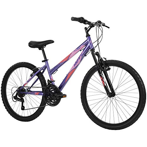 Huffy Bicycle Company Hardtail Mountain Bike, Summit Ridge, Lightweight, Purple, 24 Inch Wheels/14 Inch Frame