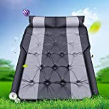 hook.s Inflatable Air Mattress,Portable Back Seat Blow-up Sleeping Pad for Travel Camping Sleep Bed Vacation Fits Universal Car SUV Truck