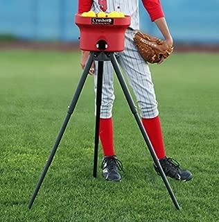 HEATER SPORTS Crusher Curveball Small Ball Baseball and Softball Pitching Machine With 1 Dozen Small Golf Ball Sized Balls Included