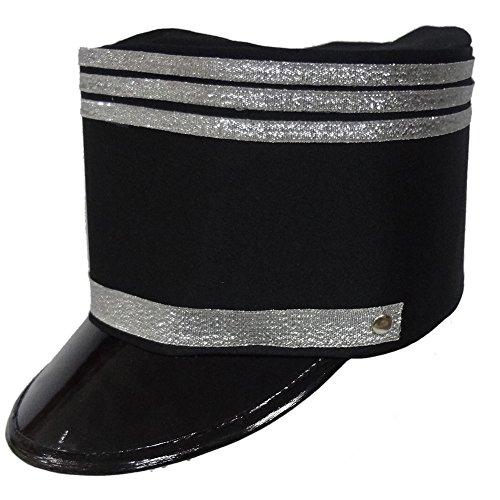 Dress Up America Chapeau de fanfare pour adultes (noir)