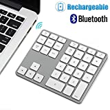 [Upgraded] Bluetooth Number Pad, Designed for Mac OS and Windows Users, Dual System Aluminum Rechargeable Wireless Numeric Keypad External Numeric Keyboard for MacBook, MacBook Pro/Air, Windows Laptop