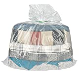 Overmonup 31x39 inches clear plastic storage bags perfect for dustproof, Moistureproof, blanket, quilt, pillow, chair, large plush toys and more (set of 10)