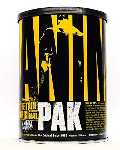 Animal Pak - The Complete All-in-one Training Pack - Multivitamins, Amino Acids, Performance Complex and More - For Elite Athelets and Bodybuilders - 30 Packs