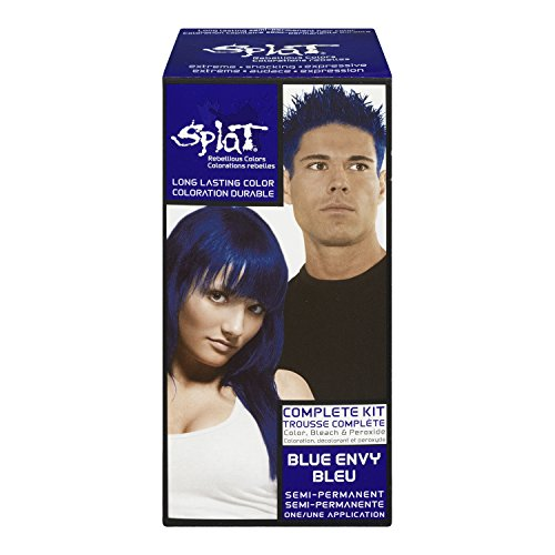 Splat Complete/Semi Permanent Hair Colour Kit Blue Envy
