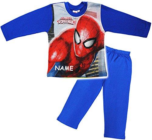 alles-meine.de GmbH alles-meine.de GmbH 2 TLG. Set _ Schlafanzug / Hausanzug / Pyjama - Spider-Man - incl. Name - Größe: 2 Jahre - Gr. 92 - Langer Trainingsanzug / Sportanzug langärmelig - 100 %..