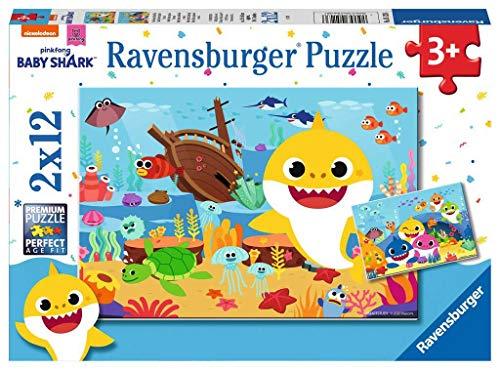 Ravensburger puzzle - Baby Shark Puzzle 2 x 12 Pz, Puzzle para niños