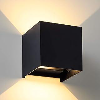 LANFU LED Aluminum Waterproof Wall Lamp, Waterproof Outdoor Light 20W 100-277V 2700K Angle-Adjustment Outdoor Wall Light W...
