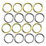 Anello in metallo, 40 Pezzi O Hoop multiuso, diametro interno 20 mm (oro, argento)