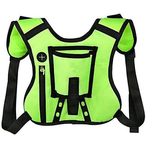 HYMD Chaleco Running Unisex Sport Marathon Gym Trail Running Run Chald Bag Backpack para Jogging Ciclismo triatlón Bolsa Mochila con Soporte de Botella (Color : Green Color)