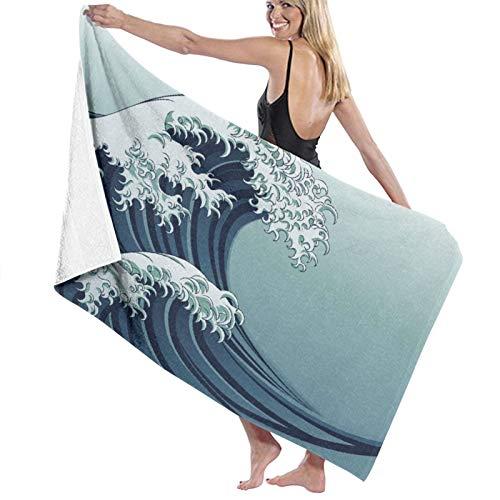NANITHG Toalla de Playa,Motivo japonés Dibujo de Estilo Vintage Inspiraciones de la Cultura asiática Oriental,Toallas de Baño Toallas de Acampada Piscina Natación Playa Ducha