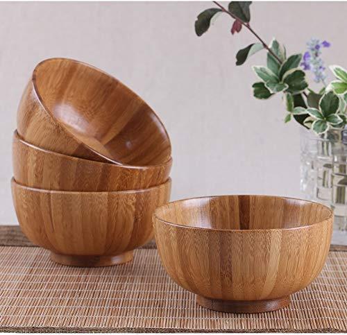 coupe de bois naturel des contenants d'aliments chinois pour la soupe de nouilles bambou cuisine bol à mélanger le riz vaisselle pour enfants