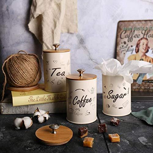 FORHOME 1 Satz Kaffee Vorratsflaschen Tee Zuckergläser Box Kanister Für Küchenbehälter Gläser Flaschen Kandiszucker Vorratsschüssel