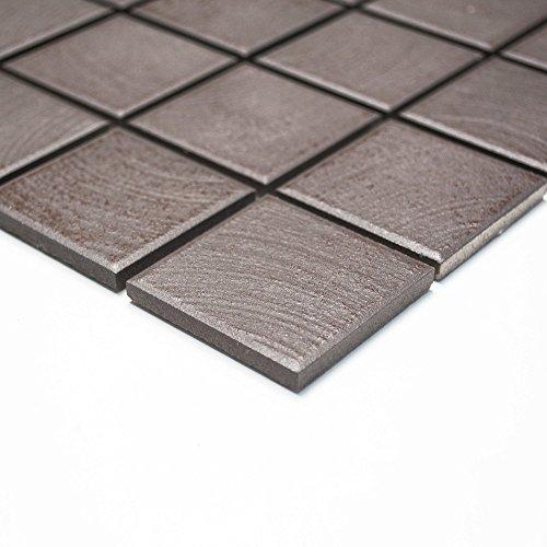 Piastrelle Mosaico Mosaico Piastrelle Ceramica pavimento della cucina bagno WC marrone opaco 6mm nuovo # 260