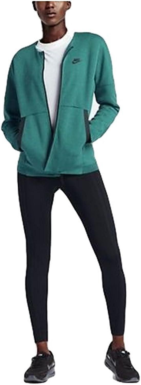 Nike Sportswear Tech Fleece Women's Jacket Green Black Gym Casual Training