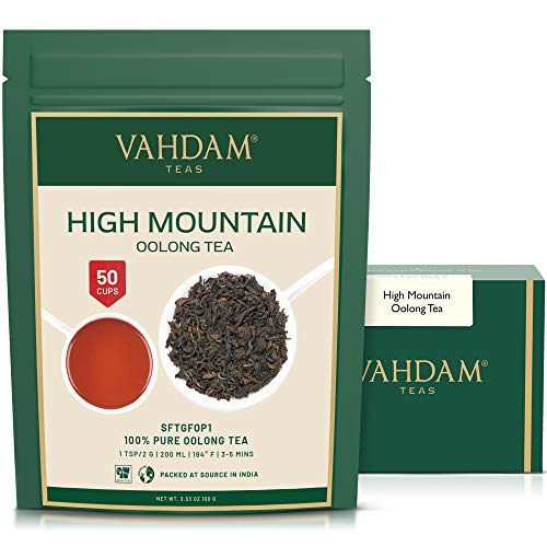 VAHDAM, High Mountain Oolong Tea Leaves from Himalayas (50 Cups), 3.53oz, OOLONG...