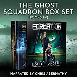 Age of Expansion: A Kurtherian Gambit Series      Ghost Squadron Boxed Set, Books 1-4              By:                                                                                                                                 Sarah Noffke,                                                                                        Michael Anderle                               Narrated by:                                                                                                                                 Chris Abernathy                      Length: 26 hrs and 6 mins     1 rating     Overall 2.0