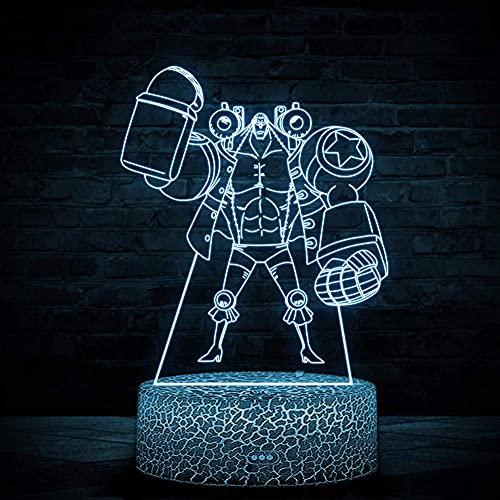 Franky 3D LED luz nocturna 16 colores cambio decoración lámpara – regalo perfecto fiesta de cumpleaños Navidad para bebés adolescentes amigos