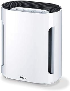 Beurer LR200 - Purificador de Aire, hasta 15 m2, ventilación, 3 niveles de filtración, función Ionic, display iluminado, temporizador, filtro hepa, 50 W, blanco