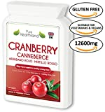 Cranberry Concentrate Supplements for Urinary Tract Infection UTI. Equal To 12600 mg of Fresh Cranberries! Highest Potency On the Market Triple Strength Promote Kidney, Urinary or Bladder Health for Men and Women. No More Cranberry Juice! (Tablet) from NO