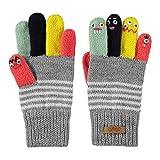Barts Unisex Baby Puppet Handschuhe, Grau (Heather Grey 002h), One size (Herstellergröße: 43/46)
