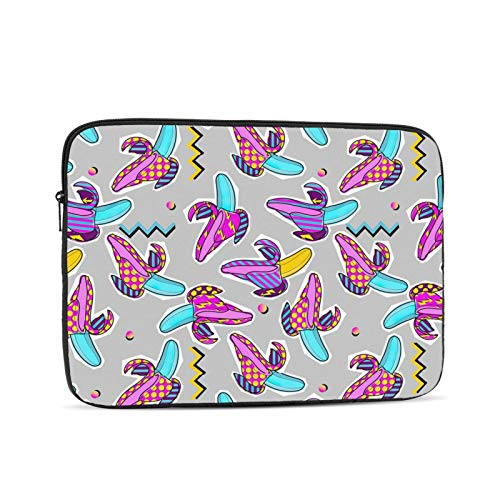 NYIVBE Summer Party Colorful Banana Laptop Sleeve Bag Compatible with 10-17 Inch MacBook Pro,MacBook Air,Notebook Computer,Tablet,Water Resistant Durable Unisex Portable Laptop Case