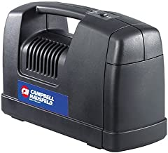 12-Volt Inflator, Portable Compressor for Tire Inflation, 120 PSI with Nozzles and Needles (Campbell Hausfeld RP1200)