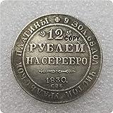 Eeng 1830-1845 Rusia Moneda de Platino de 12 rublos Copia