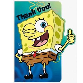 amscan Spongebob Thank You Cards