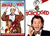 Warped Christmas Double Feature Jingle All The Way Movie & Bill Murray Scrooged Holiday Carol DVD Holiday Comedy 2-Pack