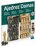 Falomir Tablero de Ajedrez y Damas con Accesorios 40cm, Juego de Mesa, Clásicos, 40 cm (27917)