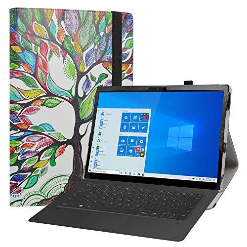 LiuShan kompatibel mit Lenovo Yoga Duet 7 hülle,Folding PU Leder Tasche Hülle Case mit Ständer für 13