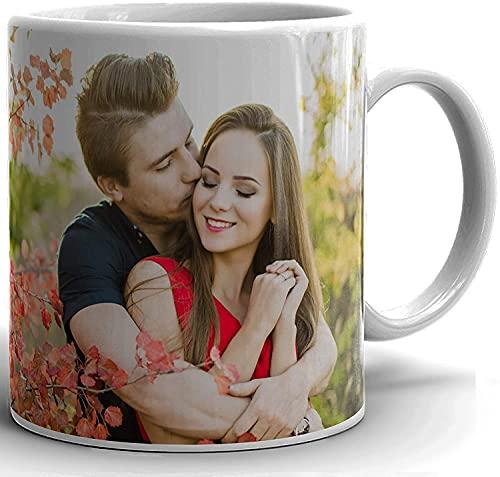 Taza personalizada, diseño de imagen de tu nombre, diseño de imagen familiar, taza de café de té personalizada, regalo perfecto para colegas, día de Navidad, Papá Noel, fiesta de Año Nuevo