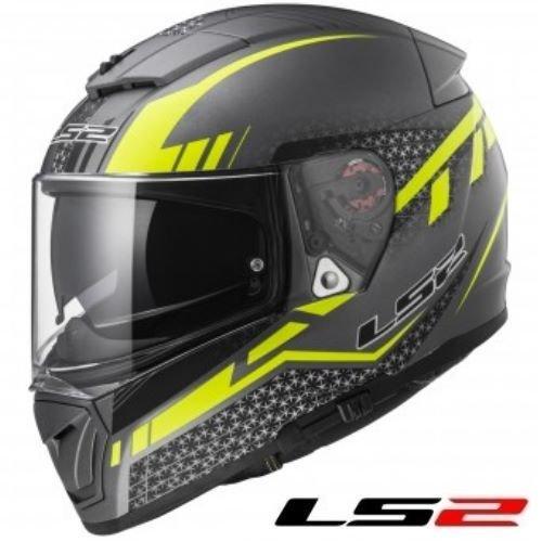 LS2 FF390 Breaker Casco integrale da motociclista – Split Matt Titanio/Giallo
