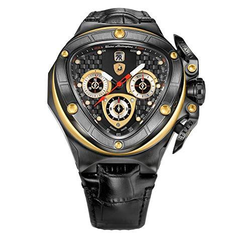 Tonino Lamborghini Spyder 8955 ブラック クロノグラフ 自動腕時計